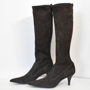 Cole Haan Brown Suede Pointed Boots size 8.5